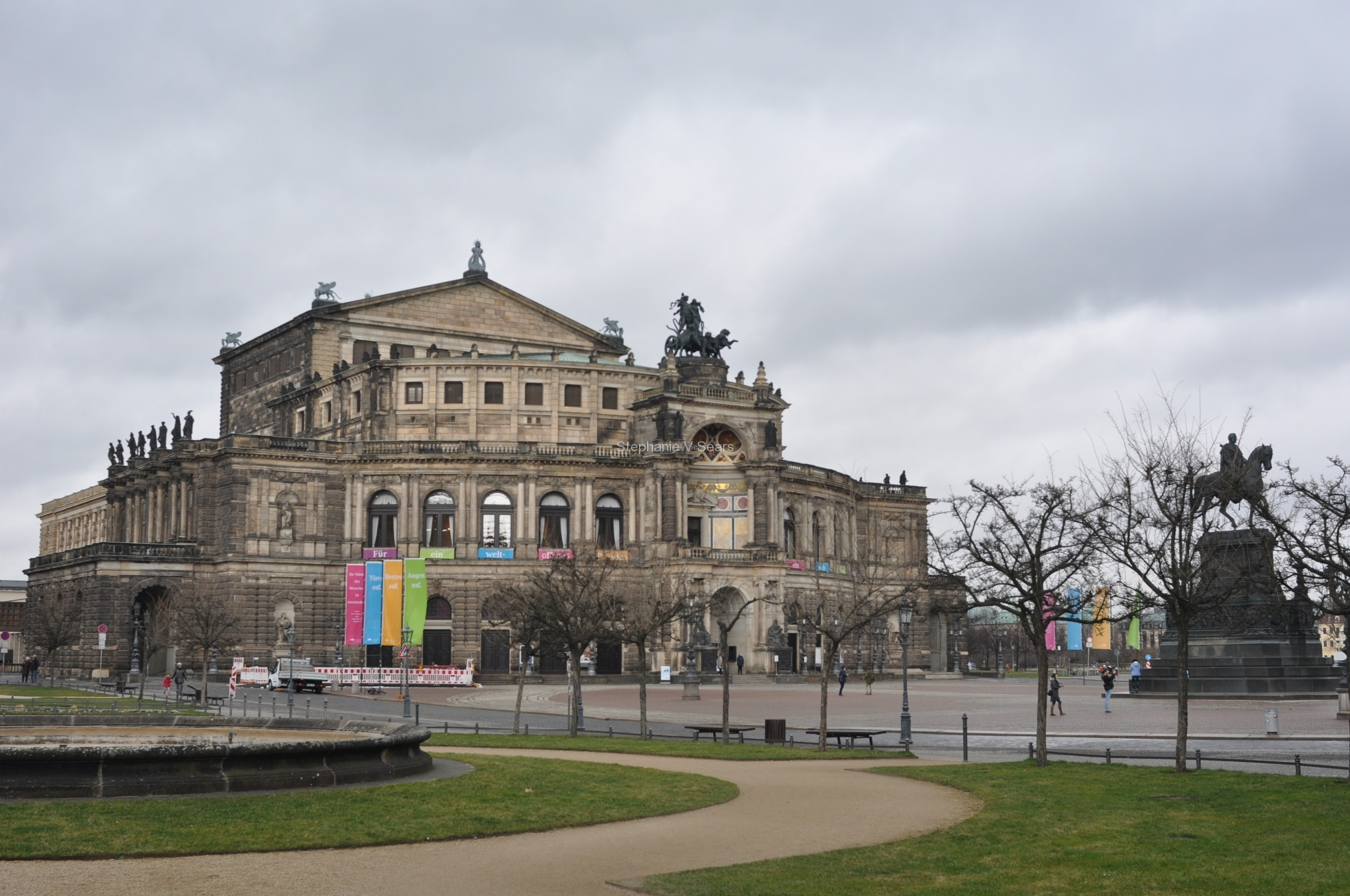 Dresden opera house rebuilt several times after disasters