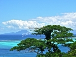 view of Raiatea from paradise