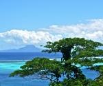 view of Raiatea from paradise