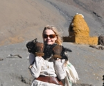 with lamb at about 5000 meters. Tibet